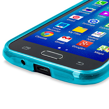 FlexiShield Samsung Galaxy J1 Gel Case - Blue