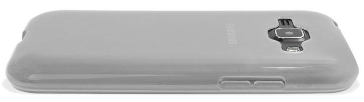 FlexiShield Samsung Galaxy J1 Gel Case - White