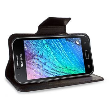 Encase Rotating Leather-Style Samsung Galaxy J1 Wallet Case - Black