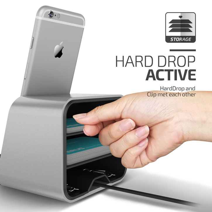 Verus i-Depot iPhone / iPad Charging Stand - Silver