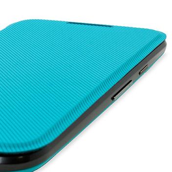 san francisco 08574 67b20 Official Motorola Moto G 3rd Gen Flip Shell Cover - Turquoise