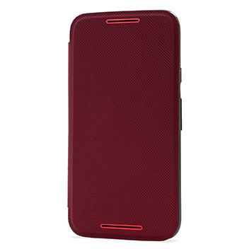 Official Motorola Moto G 3rd Gen Flip Shell Cover - Crimson