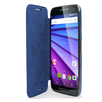 reputable site d3d2a e4501 Official Motorola Moto G 3rd Gen Flip Shell Cover - Blue