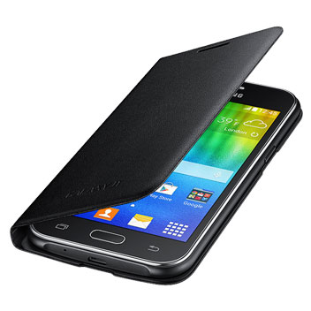 Official Samsung Galaxy J1 Flip Cover - Black