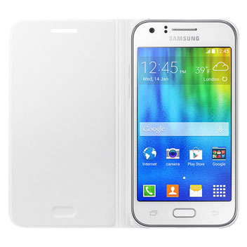 Official Samsung Galaxy J1 Flip Cover - White