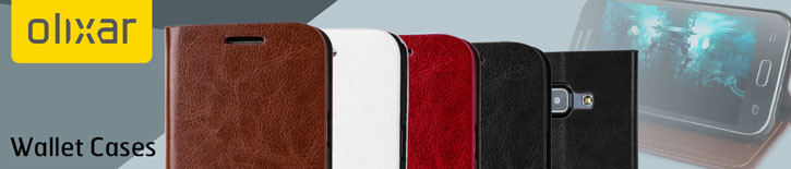 Olixar Leather-Style Samsung Galaxy J1 Wallet Case - Brown