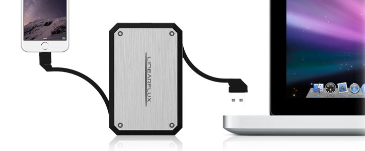 Linearflux LithiumCard Pro Portable Lightning Power Bank - Silver
