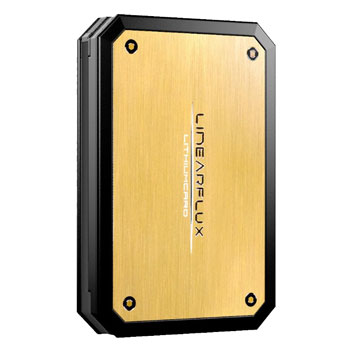 Linearflux LithiumCard Pro Portable Lightning Power Bank - Gold