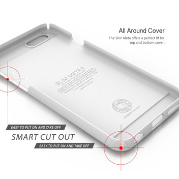 Obliq Slim Meta II iPhone 6 Case - White / Champagne Gold
