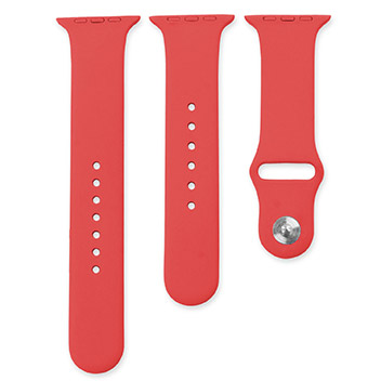 Olixar 3-in-1 Silicon Sports Apple Watch Strap 38mm - Red