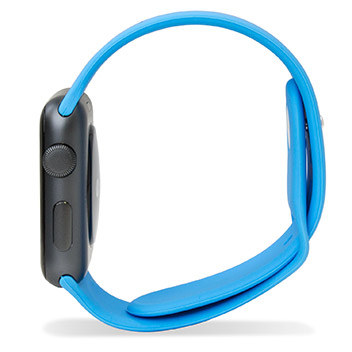 Olixar 3-in-1 Silicon Sports Apple Watch Strap 42mm - Blue