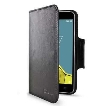 Encase Rotating Leather-Style Vodafone Smart Ultra 6 Wallet Case - Black