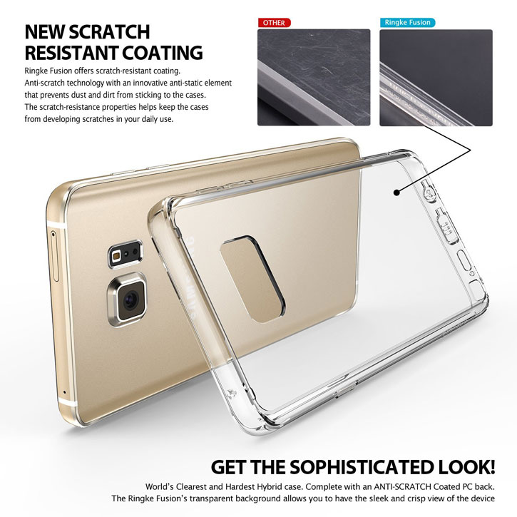 Rearth Ringke Fusion Samsung Galaxy Note 5 Case - Crystal Clear f31af075b