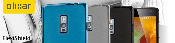 FlexiShield OnePlus 2 Gel Case - Smoke Black