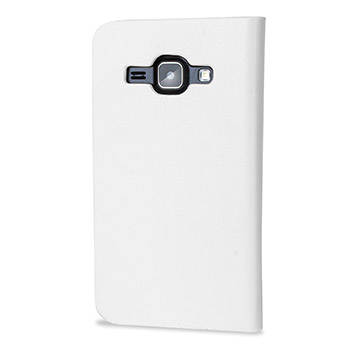Olixar Leather-Style Samsung Galaxy J1 Wallet Case - White
