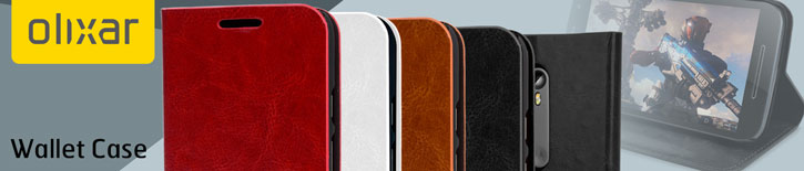 Olixar Leather-Style Motorola Moto G 3rd Gen Wallet Case - White