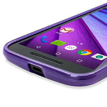 FlexiShield Motorola Moto G 3rd Gen Gel Case - Purple