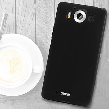 FlexiShield Microsoft Lumia 950 Gel Case - Solid Black