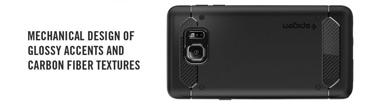 Spigen Rugged Armor Samsung Galaxy Note 5 Tough Case - Black