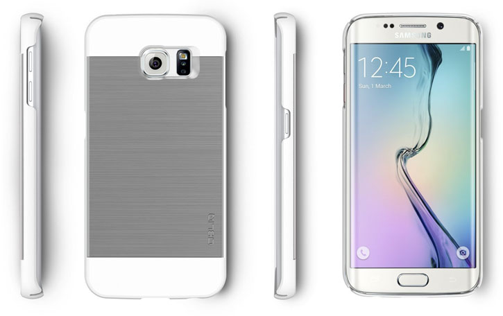 Obliq Slim Meta Samsung Galaxy S6 Edge Plus Case - Satin Silver