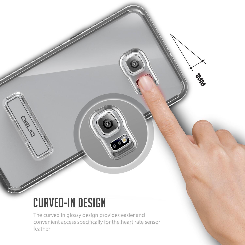Obliq Naked Shield Series Samsung Galaxy S6 Edge Plus Case - Black