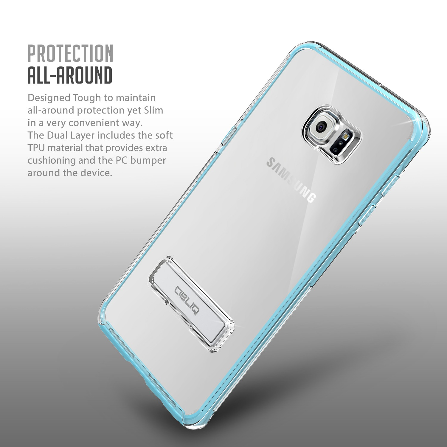 Obliq Naked Shield Series Samsung Galaxy S6 Edge Plus Case - Blue