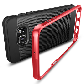 Spigen Neo Hybrid Carbon Samsung Galaxy S6 Edge+ Case - Dante Red