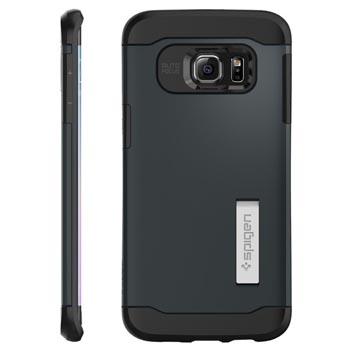 Spigen Slim Armor Samsung Galaxy S6 Edge+ Case - Metal Slate