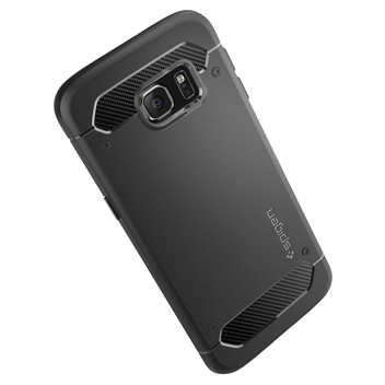 Spigen Rugged Armor Samsung Galaxy S6 Edge+ Tough Case - Black