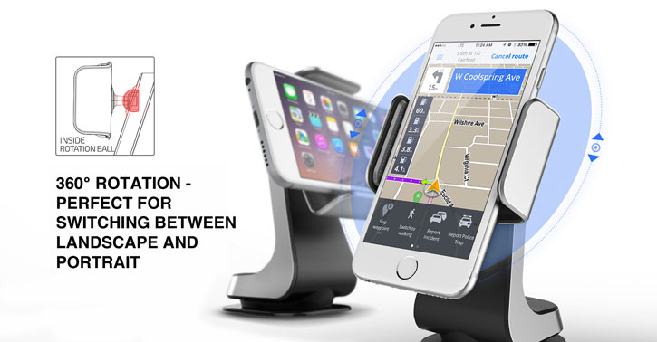 Verus Hybrid Grab Universal Case Compatible In-Car Mount