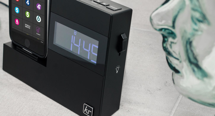 KitSound X-Dock 3 iPhone 7 Plus / 7 / 6S / 6 Clock Radio Speaker Dock