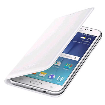 Official Samsung Galaxy J5 Flip Wallet Cover - White