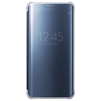 Official Samsung Galaxy S6 Edge+ Clear View Cover Case - Blue Black