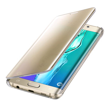 Clear View Cover Samsung Galaxy S6 Edge+ Officielle – Or