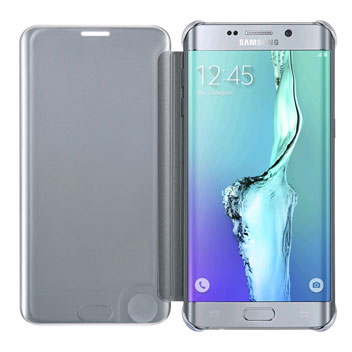 Official Samsung Galaxy S6 Edge+ Clear View Cover Case - Silver