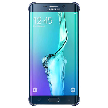 Official Samsung Galaxy S6 Edge+ Clear Cover Case - Blue / Black