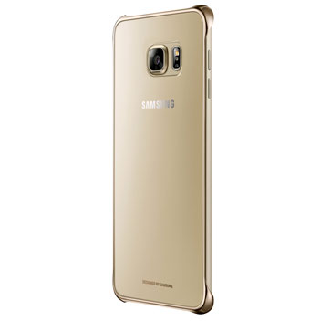 Official Samsung Galaxy S6 Edge+ Clear Cover Case - Gold