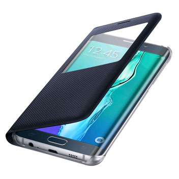 Official Samsung Galaxy S6 Edge+ S View Cover Case - Blue / Black