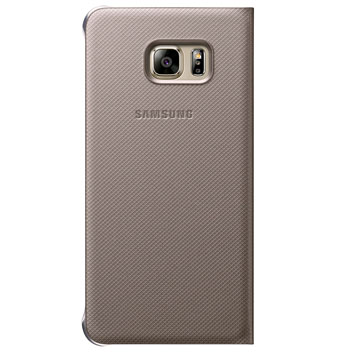 Official Samsung Galaxy S6 Edge+ S View Cover Case - Gold