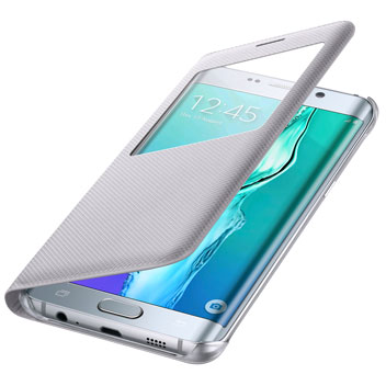 Official Samsung Galaxy S6 Edge+ S View Cover Case - Silver