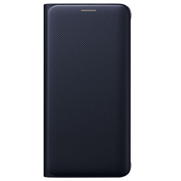 Official Samsung Galaxy S6 Edge+ Flip Wallet Cover - Blue / Black
