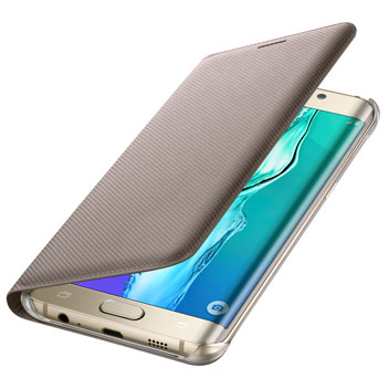Official Samsung Galaxy S6 Edge+ Flip Wallet Cover - Gold