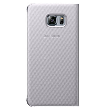 Official Samsung Galaxy S6 Edge+ Flip Wallet Cover - Silver