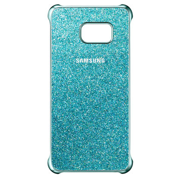 Official Samsung Galaxy S6 Edge+ Glitter Cover Case - Blue