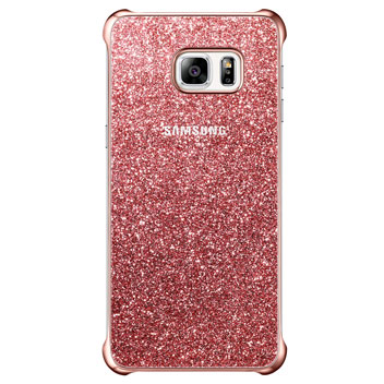 Official Samsung Galaxy S6 Edge+ Glitter Cover Case - Pink