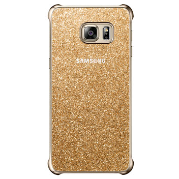 Official Samsung Galaxy S6 Edge+ Glitter Cover Case - Gold