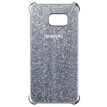 Official Samsung Galaxy S6 Edge+ Glitter Cover Case - Silver