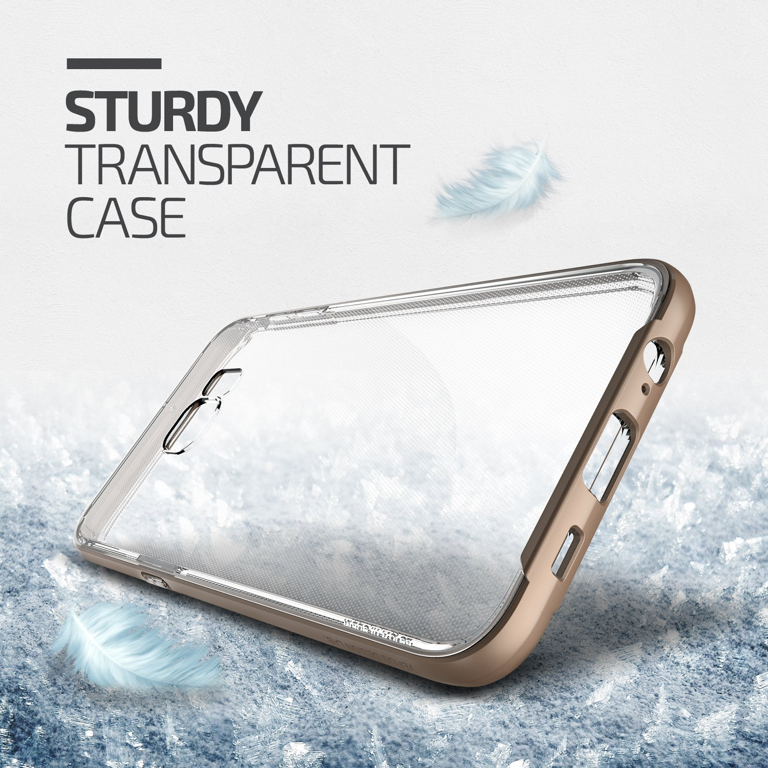Verus Crystal Bumper Samsung Galaxy S6 Edge Plus Case - Shine Gold