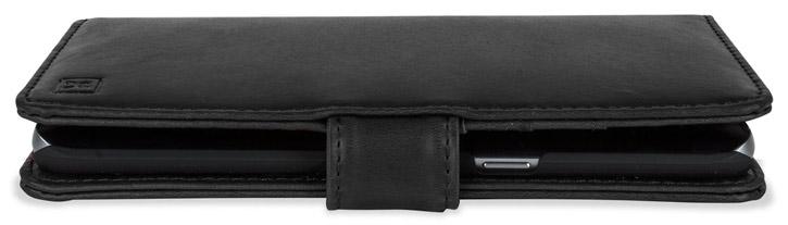 Olixar Samsung Galaxy S6 Edge+ Genuine Leather Wallet Case - Black