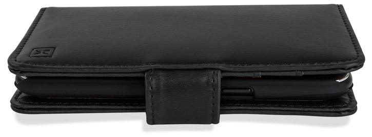 Olixar Samsung Galaxy S6 Edge Plus Genuine Leather Wallet Case - Black